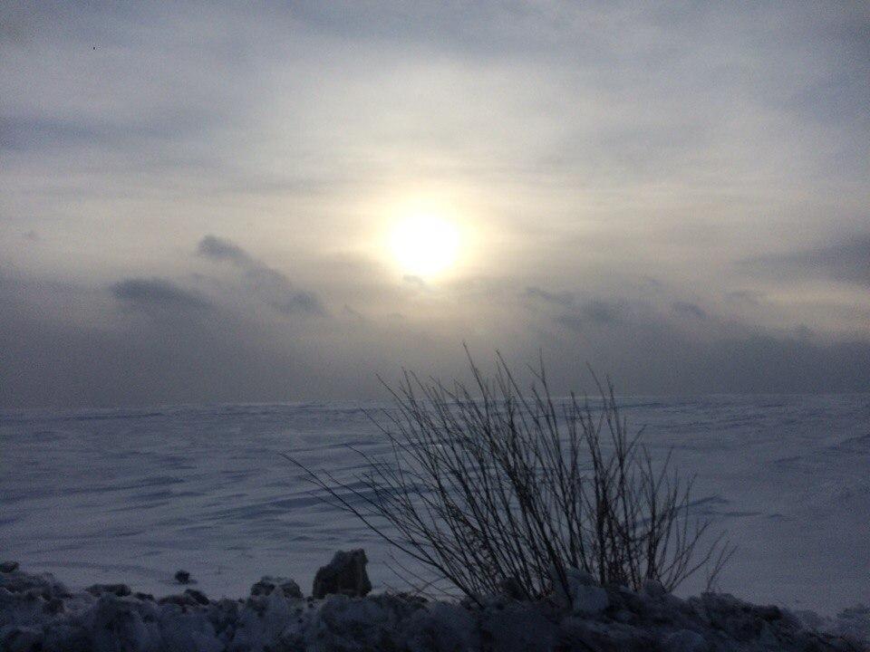 зима, солнце, сугробы
