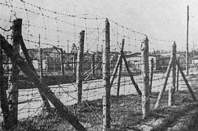 Концентрационный лагерь Саласпилс. 1944 г.