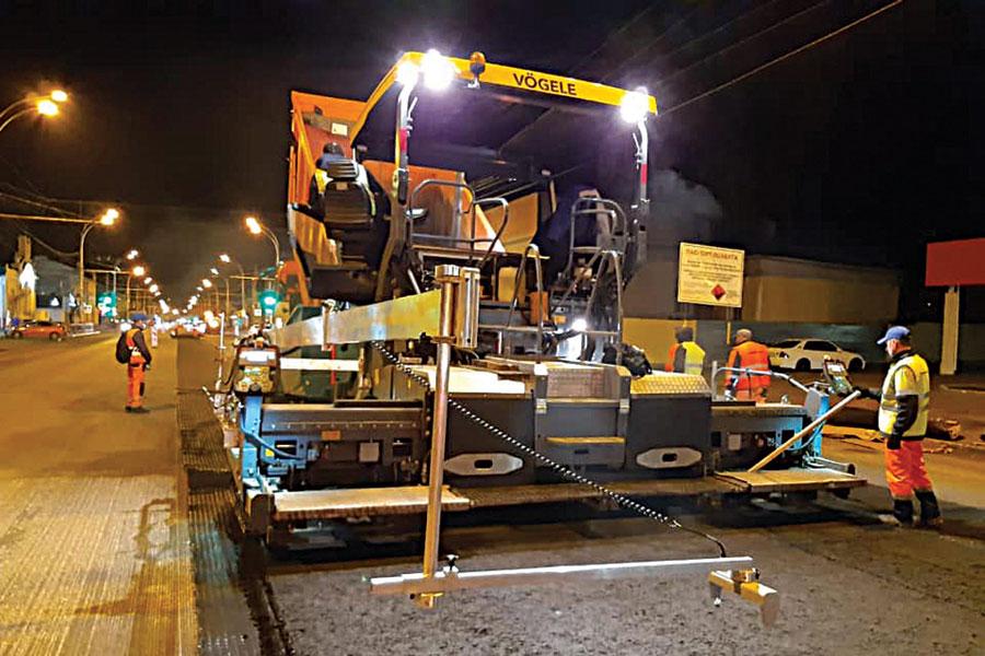 В Тамбове продолжается ремонт городских магистралей.