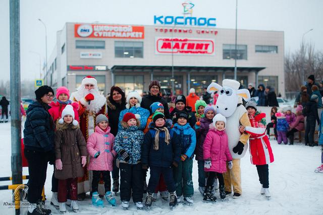 Каток в Кировском районе.