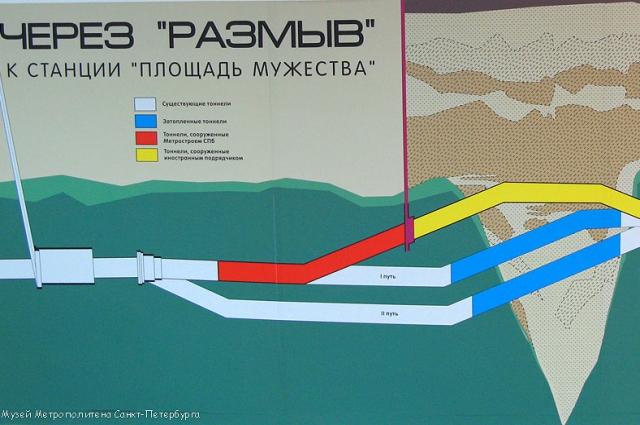 Чтобы спасти от затопления ветку метро, были спешно построены по два бетонных затвора толщиной по 3 метра каждый.