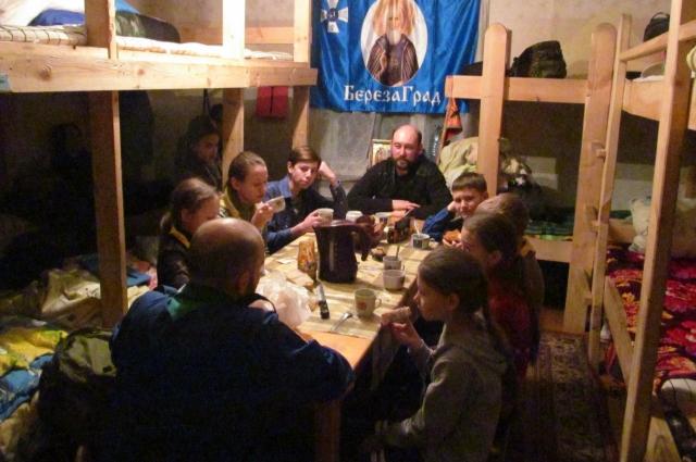 Детям очень нравился лагерь при храме.