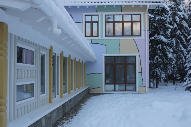 Терапевтический комплекс похож на пряничный домик из сказки.