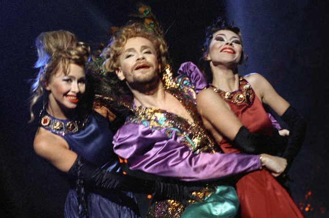 Борис Моисеев и его «леди» - танцевальное трио «Экспрессия». 1992 г.