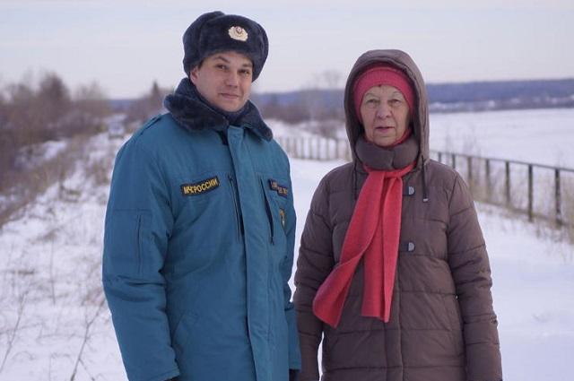 Анна Михайловна спасла мужчину из воды
