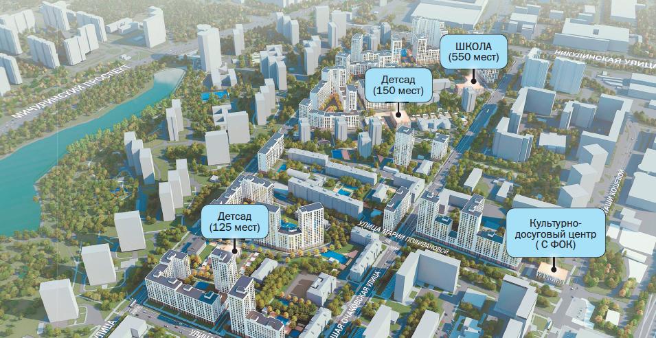 Проект планировки территории кварталов 2, 4 района Очаково-Матвеевское (ЗАО).