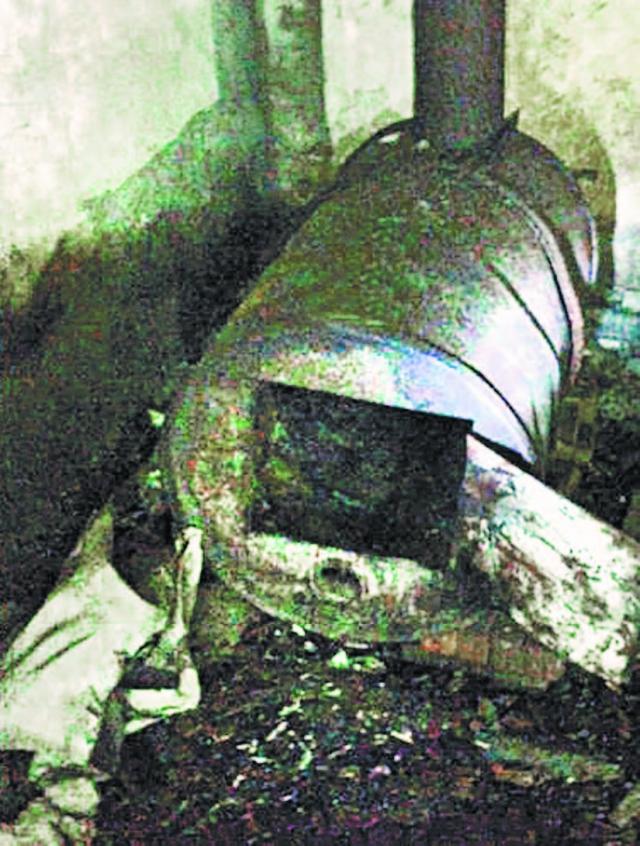 В этой печи бандиты сжигали тела убитых дальнобойщиков.