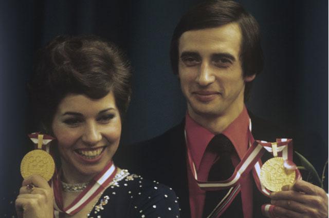 Людмила Пахомова и Александр Горшков - победители XII Олимпийских игр в танцах на льду, 1976 год