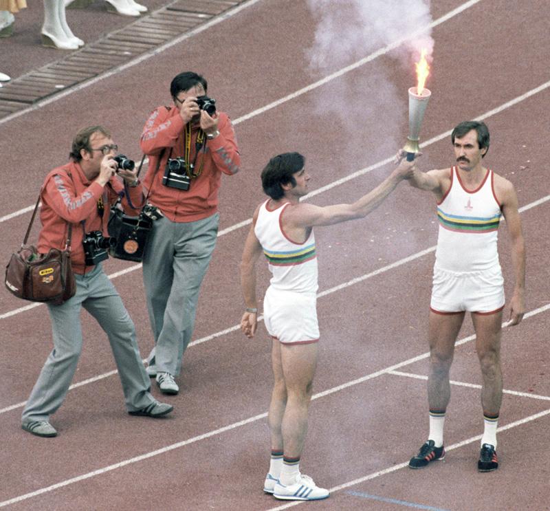 Виктор Санеев и Сергей Белов на Играх-80