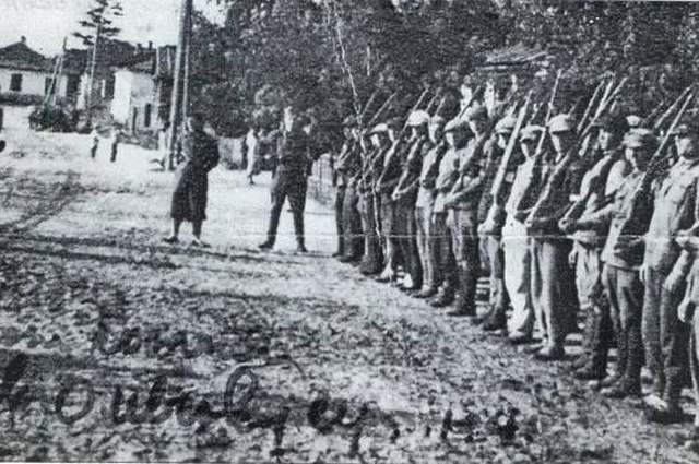 Подразделение Полесской Сечи в городе Олевск, осень 1941 года.