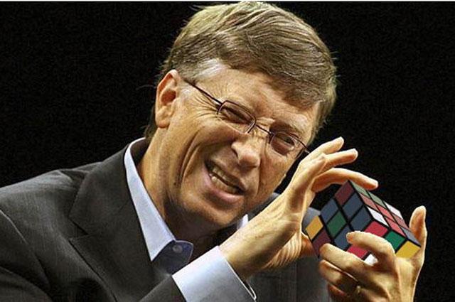Билл Гейтс и кубик Рубика