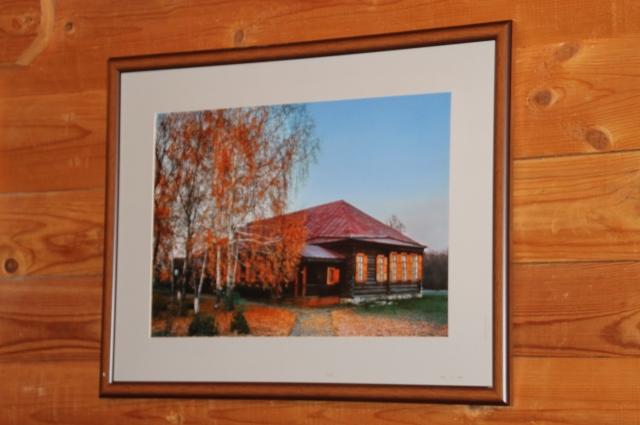 Вот так выглядит отреставрированный барский дом золотой аксаковской осенью.