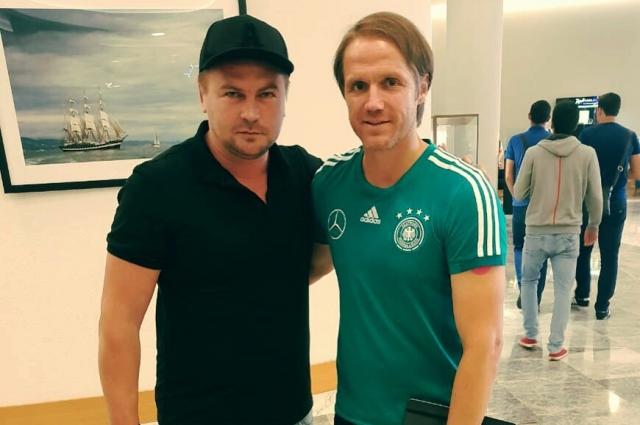 Владимир Бут со вторым тренером сборной Германии Томасом Шнайдером.