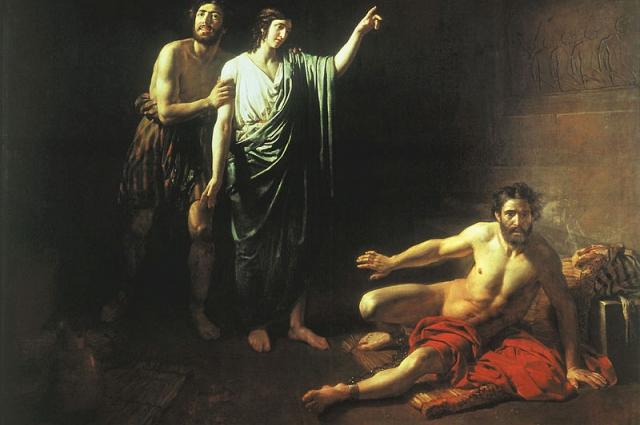 За картину «Иосиф, толкующий сны заключённым с ним в темнице виночерпию и хлебодару» Иванов получил большую золотую медаль.
