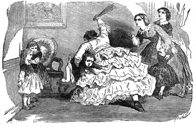 Иллюстрация к повести графини де Сегюр «Примерные девочки».