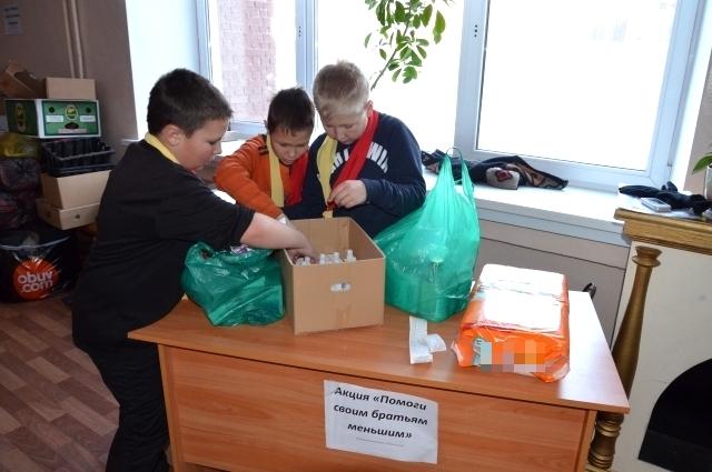 Ученики иркутской школы №49 часто участвуют в благотворительных акциях.