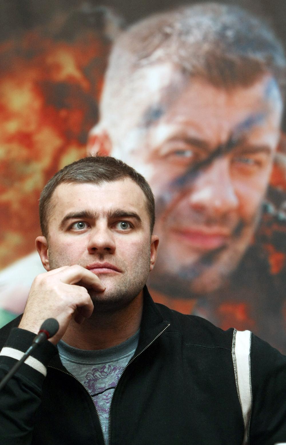 Михаил Пореченков на презентации кинопроекта «День Д». 2007 г.