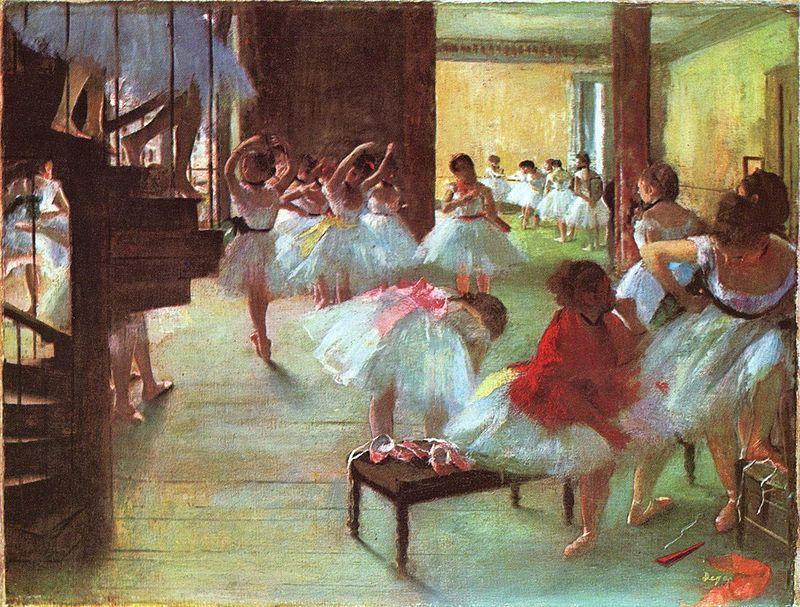 Эдгар Дега. Балетная школа.