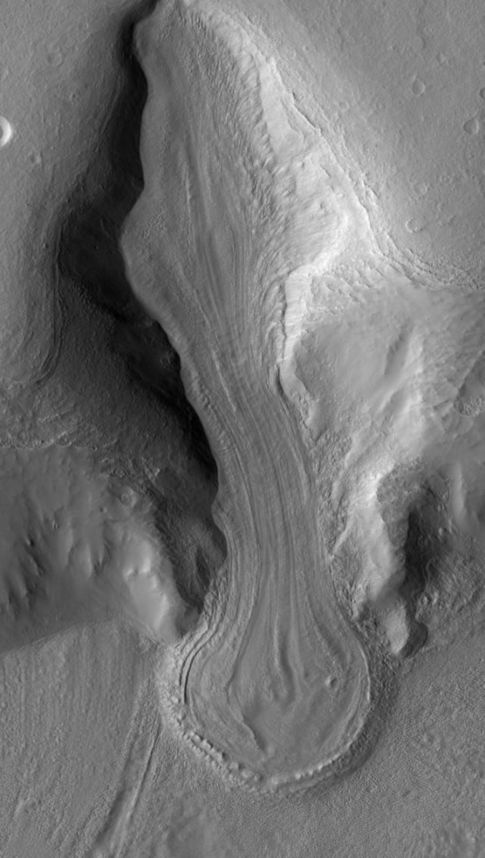 Следы ледниковых периодов на Марсе