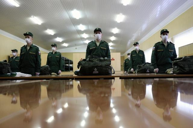 Работа сборного призывного пункта военного комиссариата Москвы.