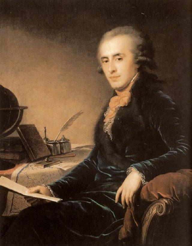 Портрет Платона Зубова кисти Иоганна Лампи. 1793 год