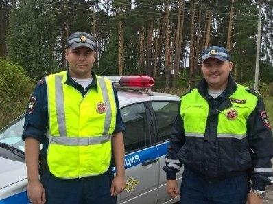 Лейтенанты полиции Олег Баданин и Георгий Клочков.