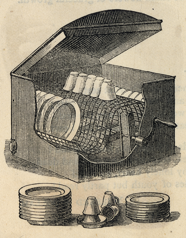 Посудомоечная машина, 1881 год.
