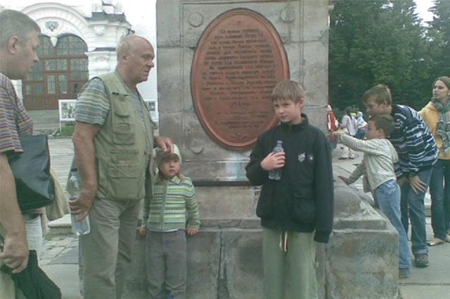 Владимир Меньшов с внуками