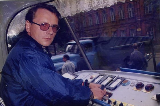 В кабине Татра-3 на остановке «улица «Комиссаржевской»