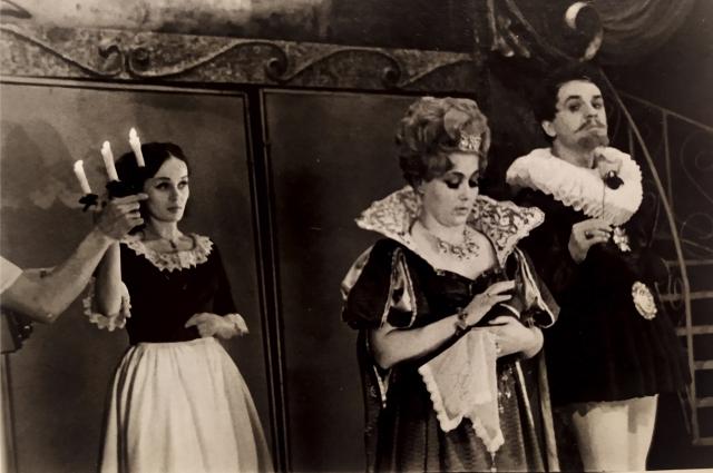 В спектакле «Три мушкетёра» актриса сыграла роль королевы Анны.