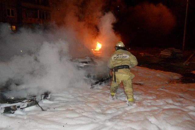 Пожар на проспекте Ленина.