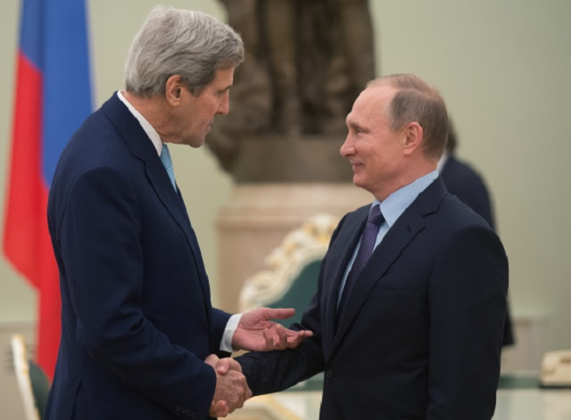 Владимир Путин и Джон Керри.
