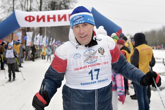 Виктор Гринкевич на «Лыжне России-2016»