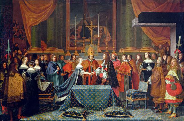 Брак Людовика XIV был заключен в 1660 году.