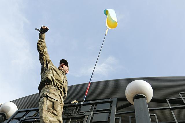 Нападения на посольство РФ в Киеве.