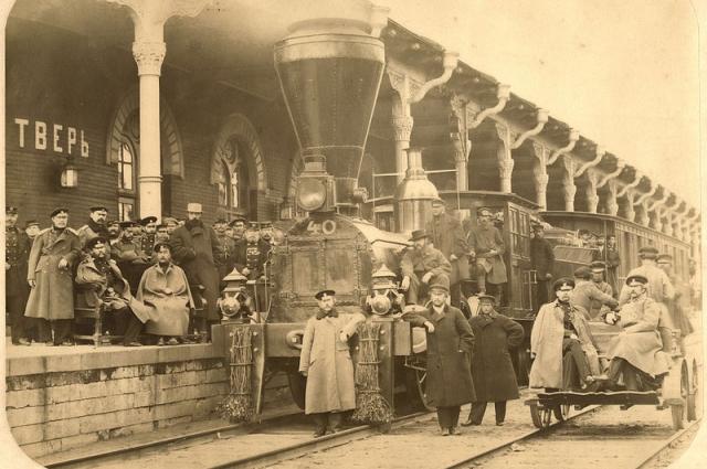 Станция на Николаевской железной дороге в Твери.