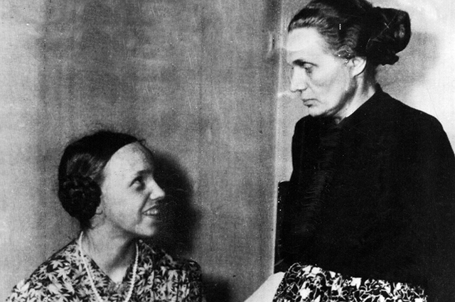 Гудрун с матерью Маргарет.