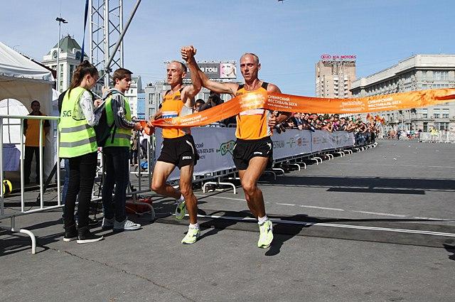 Сибирский фестиваль бега - 2016, два победителя.