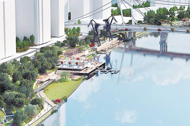 А так скоро будет выглядеть Краснопресненская набережная: wi-fi, скейт-парк, портовые краны в роли арт-объектов. Ещё недавно такое можно было увидеть только в Гамбурге и Лондоне.