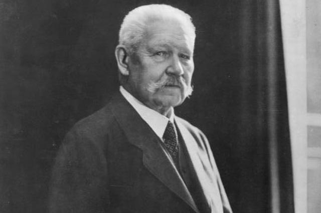 Пауль фон Гинденбург.