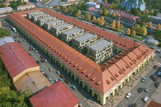 Итоговый вид «Никольских рядов» с отелями и коммерческими помещениями.