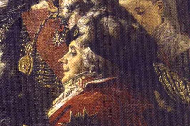 Шарль-Морис Талейран-Перигор во время «коронации» Наполеона в качестве французского императора. Картина Жака Луи Давида.