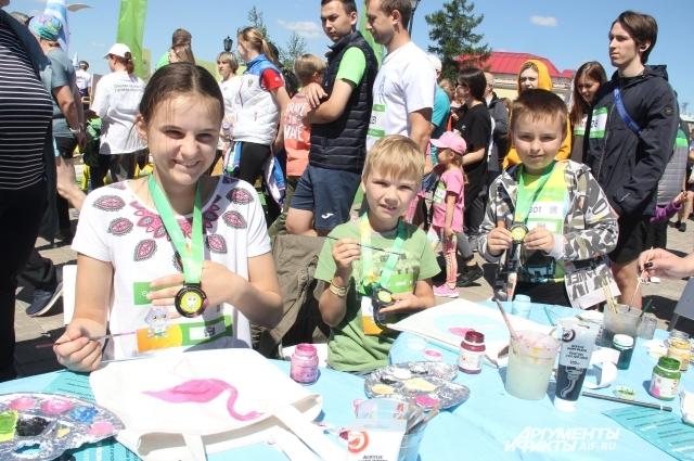 Для детей организовали различные активности.