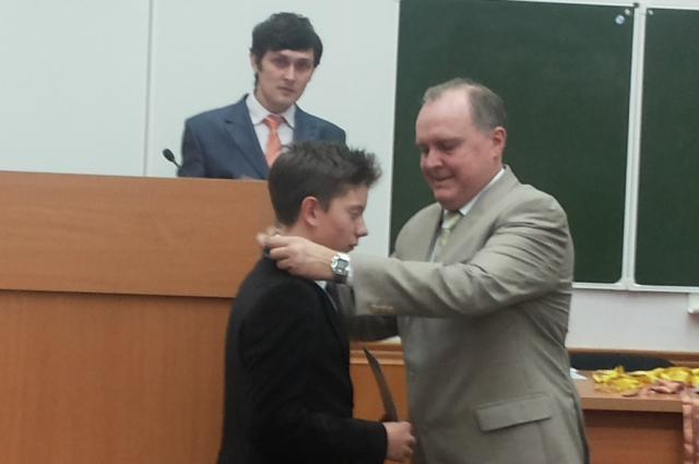 Награждение Даниила Кико.