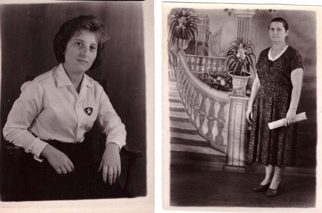 Екатерина Фёдоровна Красовская 1959 г. и Антонина Лаврентьевна Красовская.