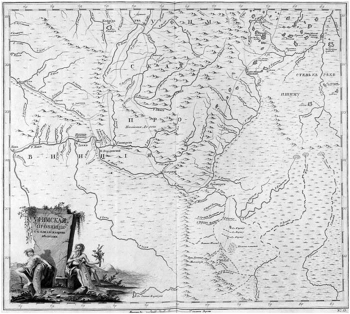 Карта Уфимской губернии.