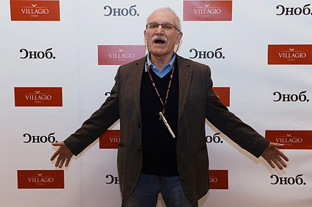 Кинорежиссер Александр Митта перед показом фильма Шагал Малевич в кинотеатре Иллюзион . 2014 год
