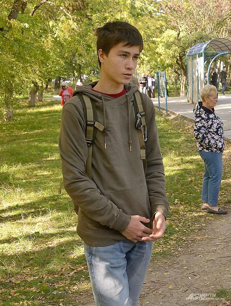 Cтудент колледжа Алим Селимов.