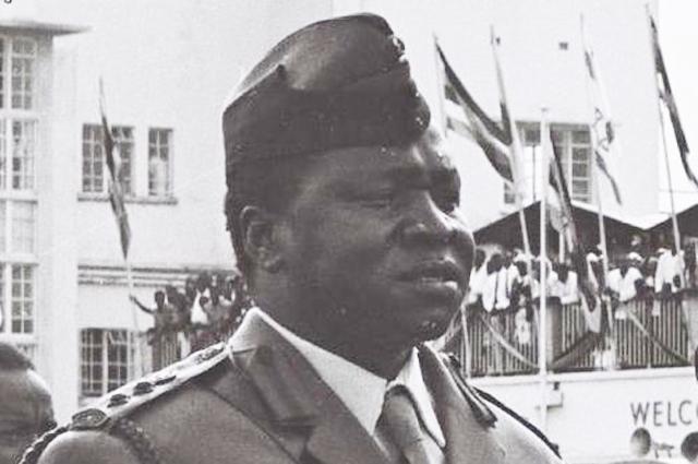 Амин был начальником армии в Энтеббе в 1966 году.