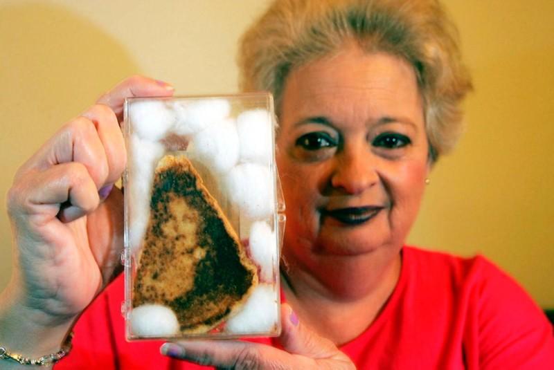 Диана Дайзер со своим божественным бутербродом.